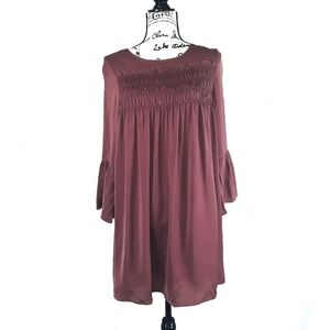 Mittoshop Shiny Copper Bell Sleeve Dress or Tunic